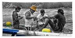 Fishing In Puerto Lopez Hand Towel