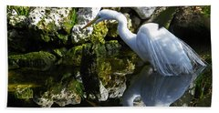 Fishing In The Creek  Color Hand Towel