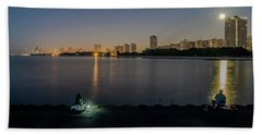 Fishing In The Moonlight Hand Towel