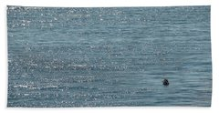 Bath Towel featuring the photograph Fishing In The Ocean Off Palos Verdes by Joe Bonita