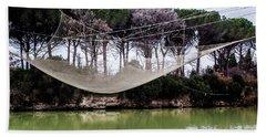 Fishing Net Bath Towel by Ana Mireles