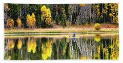 Fishing On Dream Lake Colorado Hand Towel