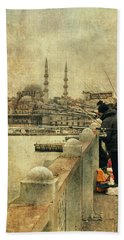 Fishing On The Bosphorus Bath Towel