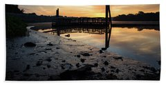 Fishing Pier At Dawn Hand Towel