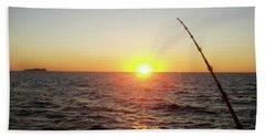 Fishing Pole Taken On 35mm Film Bath Towel