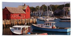 Fishing Shack Hand Towel by John Scates