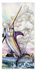 Fishing Swordfish Bath Towel