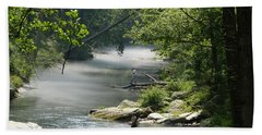 Fishing The Gunpowder Falls Bath Towel by Donald C Morgan