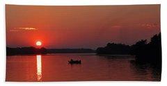 Fishing Until Sunset Bath Towel