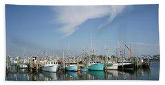 Fishing Vessels At Galilee Rhode Island Hand Towel