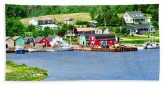 Fishing Village In Pei Bath Towel