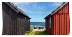 Fishing Village On Faro Island, Sweden Bath Towel