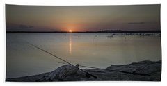 Fishing Poles Bath Towel by Leticia Latocki