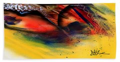 Fishtail Abstract Hand Towel