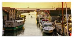 Hand Towel featuring the photograph Fishtown by Alexey Stiop