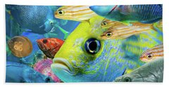 Fishy Collage 02 Bath Towel