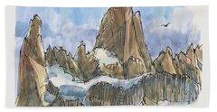 Fitz Roy, Patagonia Bath Towel