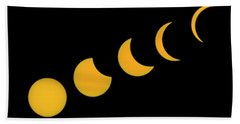 Five Phases Of The Eclipse Bath Towel