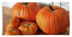 Five Pumpkins Bath Towel