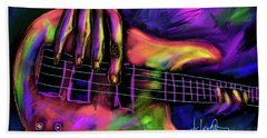 Five String Bass Bath Towel