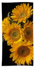 Five Sunflowers Hand Towel