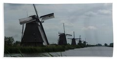 Five Windmills In Kinderdijk Bath Towel