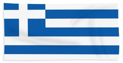 Flag Of Greece Hand Towel