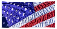 Flag Bath Towel by Phil Cardamone
