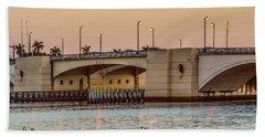 Flagler Bridge In The Evening II Hand Towel