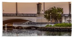Flagler Bridge In The Evening Iv Hand Towel