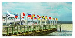 Flags At The Pier Hand Towel