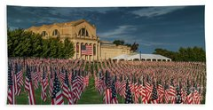 Flags Of Valor On Art Hill Hand Towel