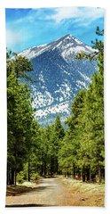 Flagstaff Arizona Road To Mountains Hand Towel by Susan Schmitz