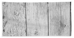 Flaking Grey Wood Paint Hand Towel by John Williams