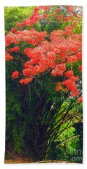Hand Towel featuring the photograph Flamboyant With Bamboo by The Art of Alice Terrill