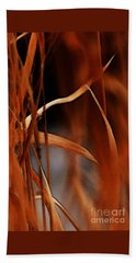 Flame Hand Towel by Linda Shafer
