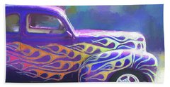 Flamed 1940 Ford Bath Towel