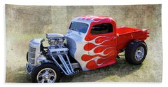 Hand Towel featuring the photograph Flamed Pickup by Keith Hawley