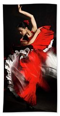 Flamenco Dancer - 01 Bath Towel