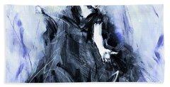 Bath Towel featuring the painting Flamenco Dancer Art 45h by Gull G