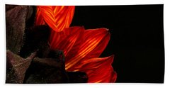 Bath Towel featuring the photograph Flames by Judy Vincent