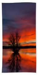 Flames On The Water Bath Towel