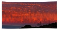 Flames Over The Pacific  Hand Towel
