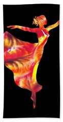 Flaming Arabesque  Hand Towel