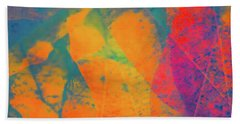Flaming Foliage 1 Bath Towel by Ari Salmela