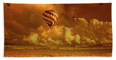Hand Towel featuring the photograph Flaming Sky by Charuhas Images