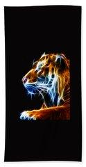 Flaming Tiger Hand Towel