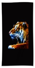 Flaming Tiger Bath Towel