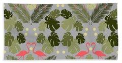 Flamingo And Palms Hand Towel