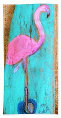 Flamingo Bath Towel by Ann Michelle Swadener